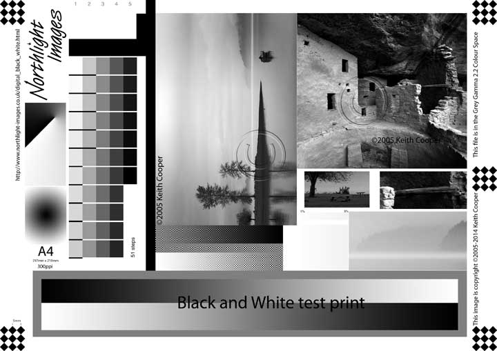 printer test page color test image for black and white printing test color printer page