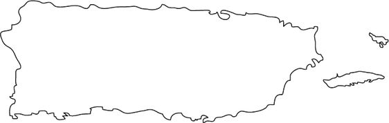 puerto rico outline blank puerto rico map outline outline puerto rico