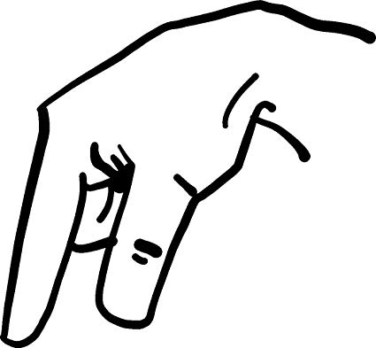 q in asl two handed sign language alphabet clipart etc asl in q
