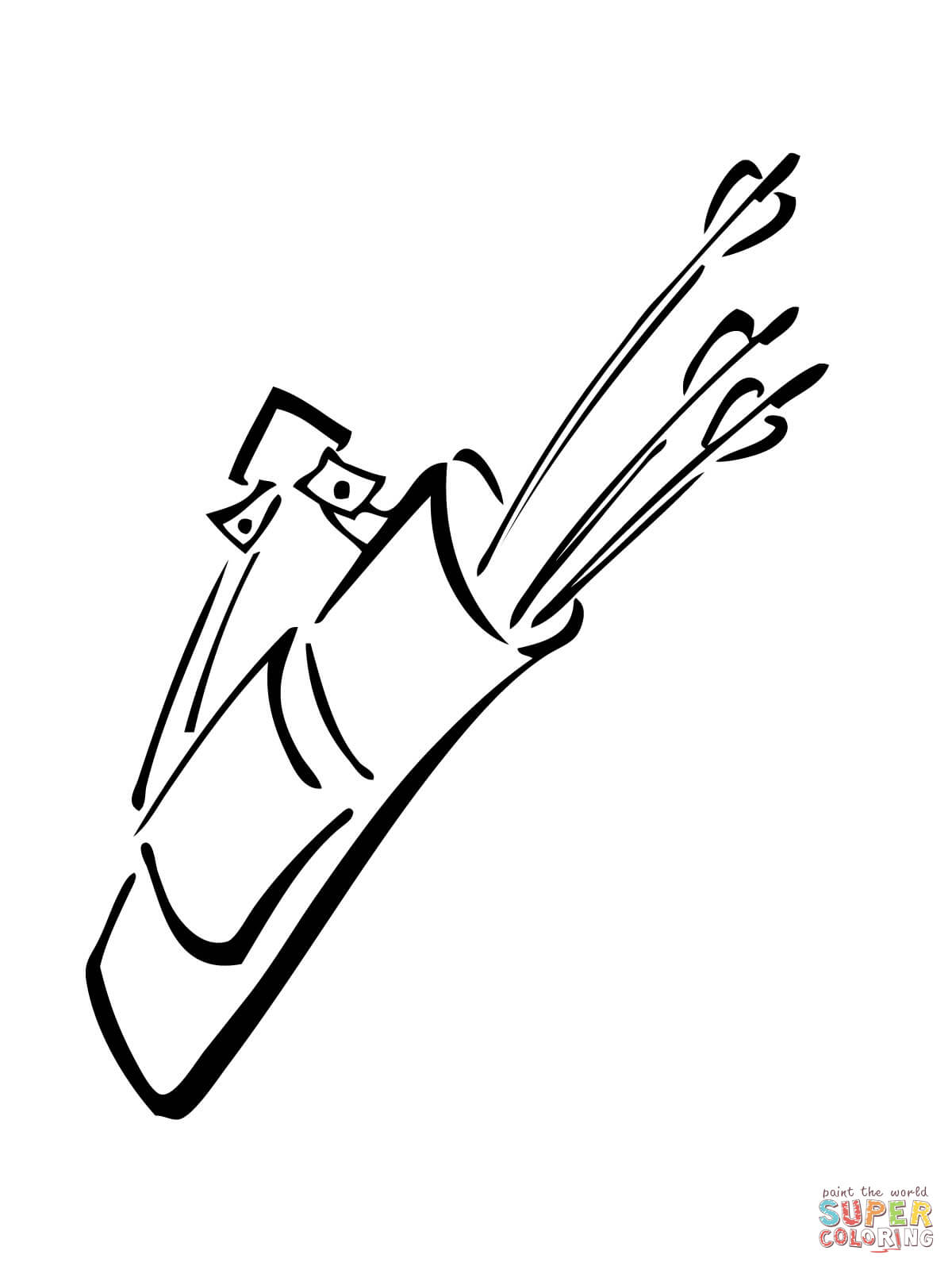quiver coloring sheets quiver coloring pages quiver with arrows coloring page sheets quiver coloring