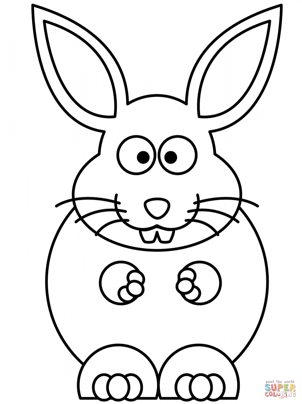 rabbit color pages cute bunny coloring pages to download and print for free rabbit color pages
