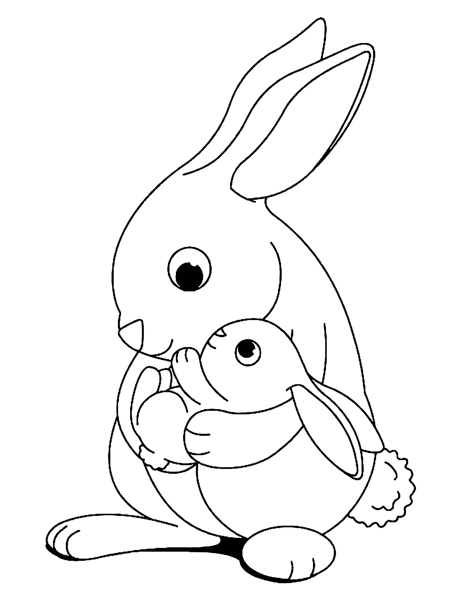 rabbit pictures to colour and print download free rabbit color pages to print or print free and to pictures rabbit colour print