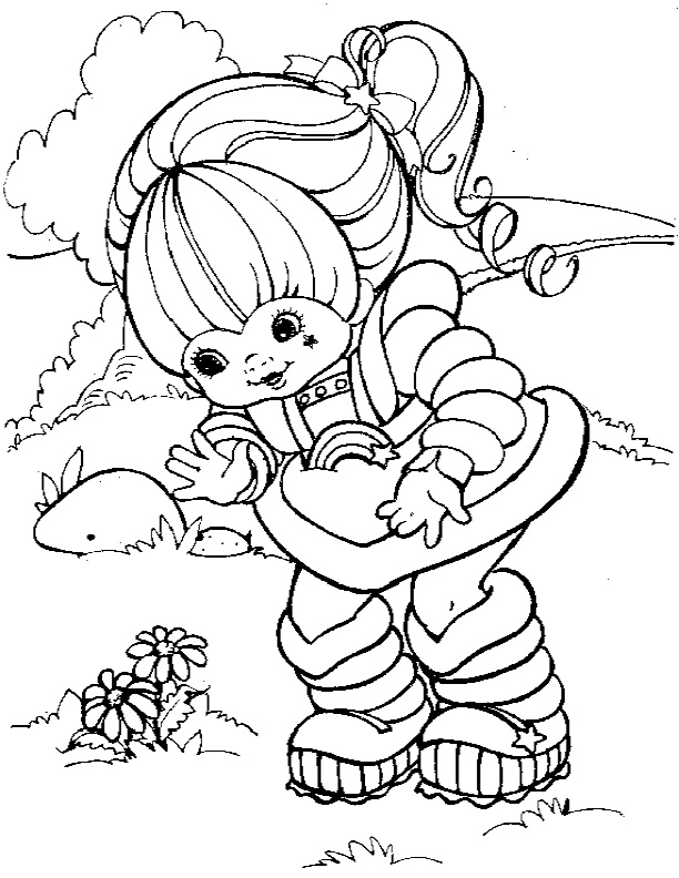rainbow brite coloring pages 17 best images about rainbow brite coloring pages on brite rainbow coloring pages