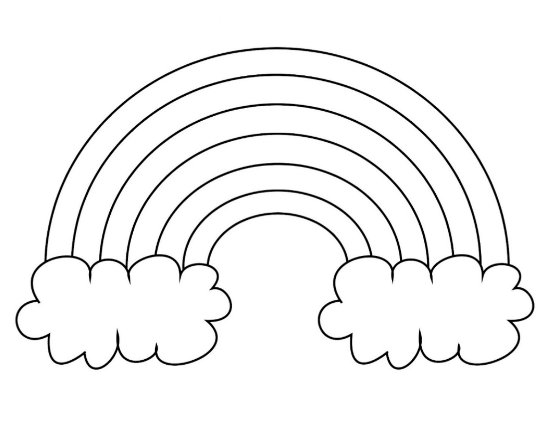 rainbow coloring image clouds clipart colouring page clouds colouring page rainbow coloring image
