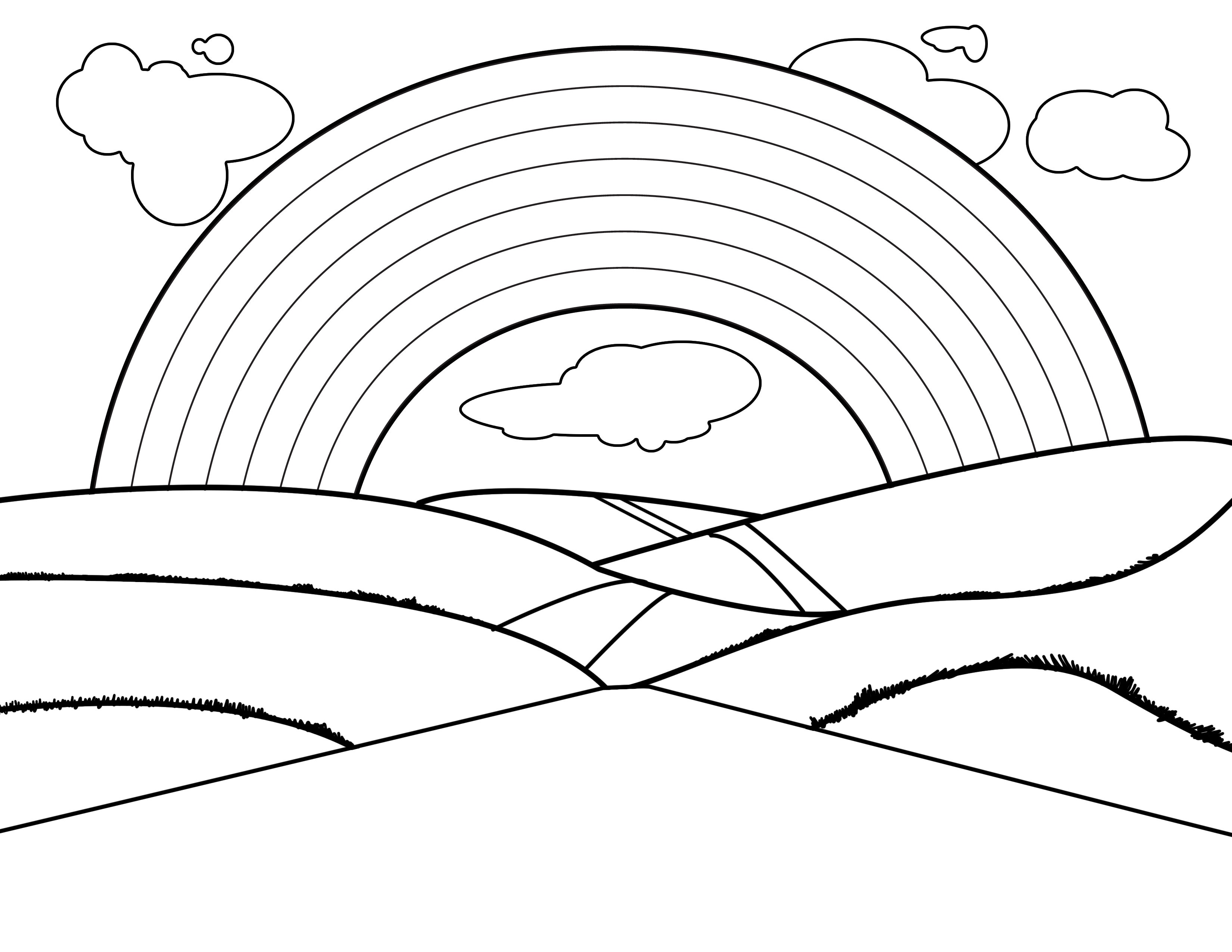 rainbow coloring pages free printable rainbow coloring pages for kids rainbow coloring pages 1 1