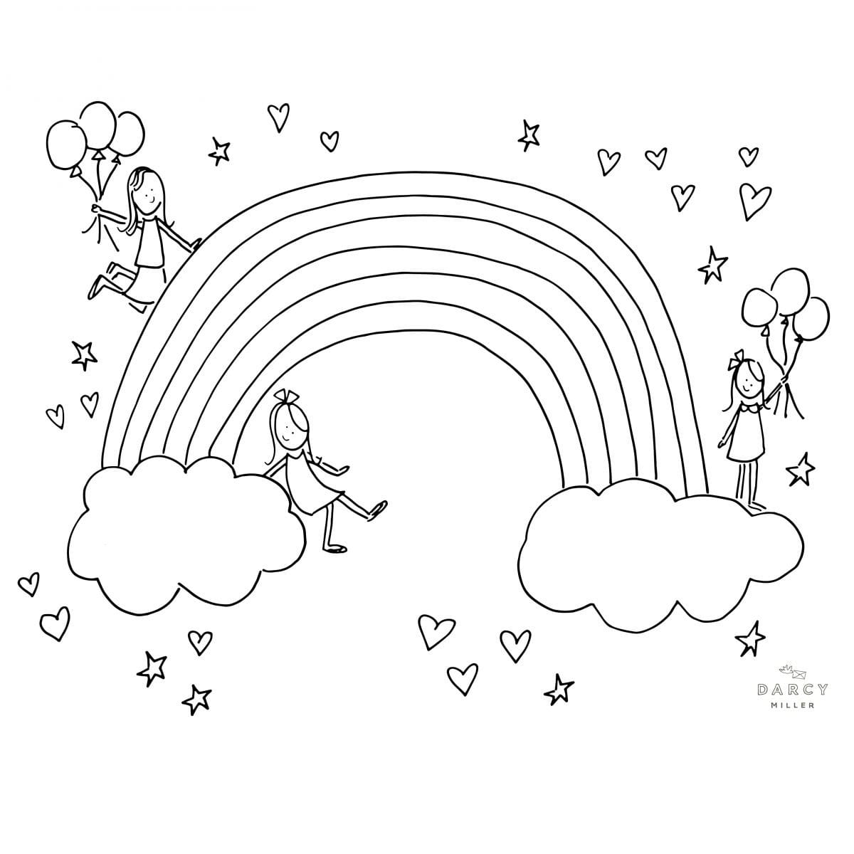 rainbow coloring pages free printable rainbow coloring pages for kids rainbow coloring pages 1 2