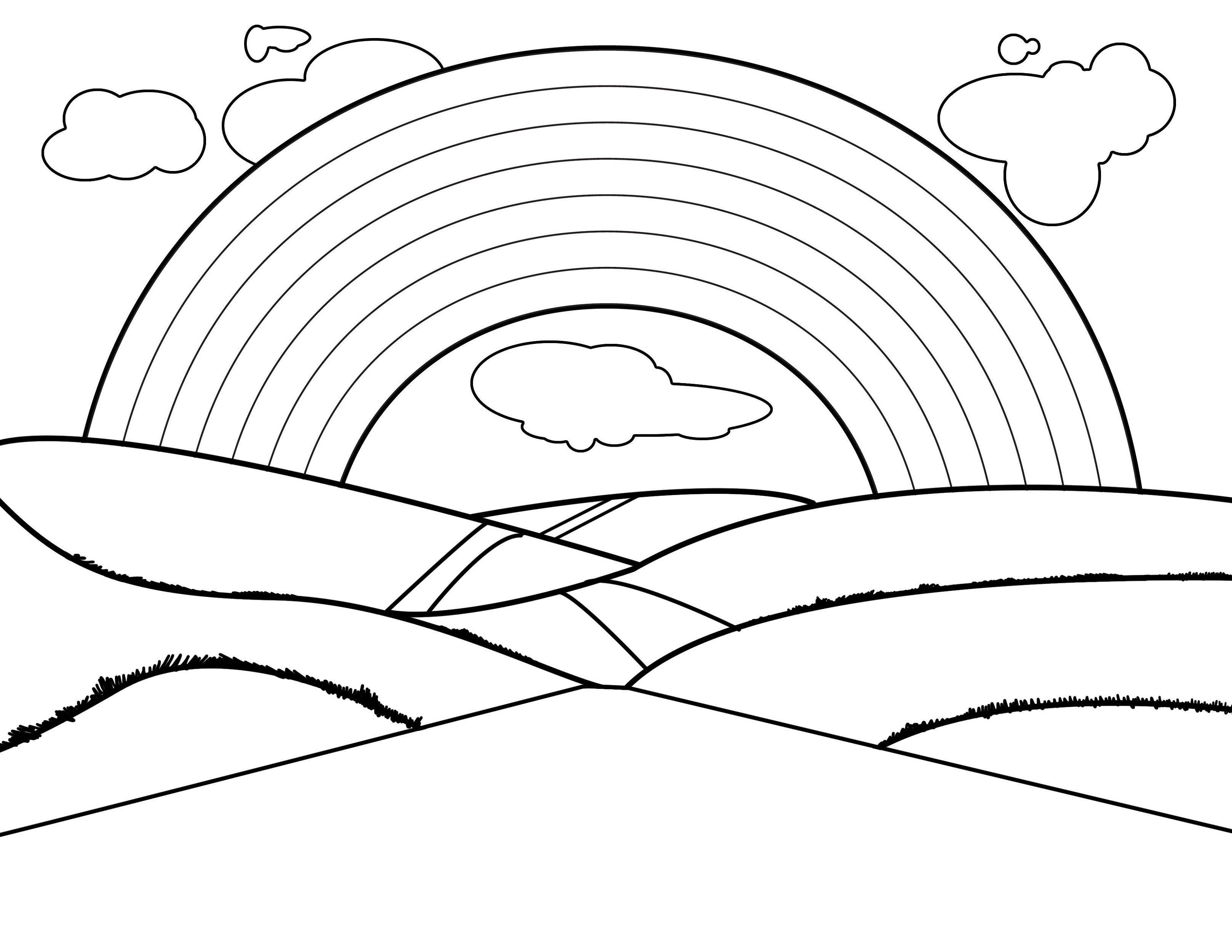 rainbow coloring pages rainbow coloring page darcy miller designs rainbow pages coloring