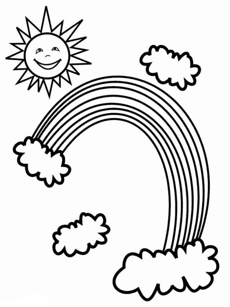 rainbow coloring pages rainbow coloring pages free printables momjunction coloring rainbow pages