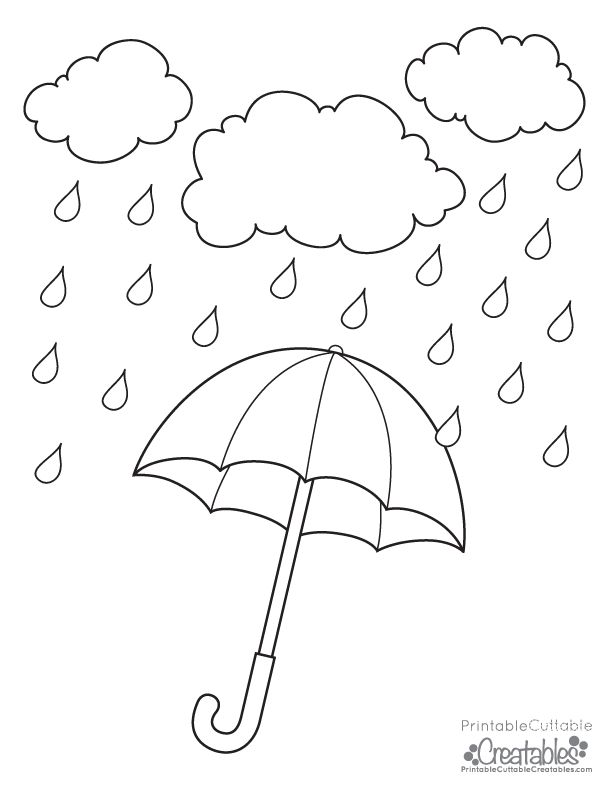 rainy day coloring pages for preschoolers pin by kayla pena on rainy day umbrella coloring page for coloring pages preschoolers rainy day