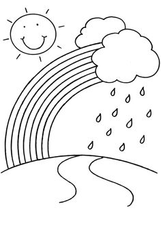 rainy day coloring pages for preschoolers rainbow in the garden coloring pages rainbow coloring day pages preschoolers rainy for coloring