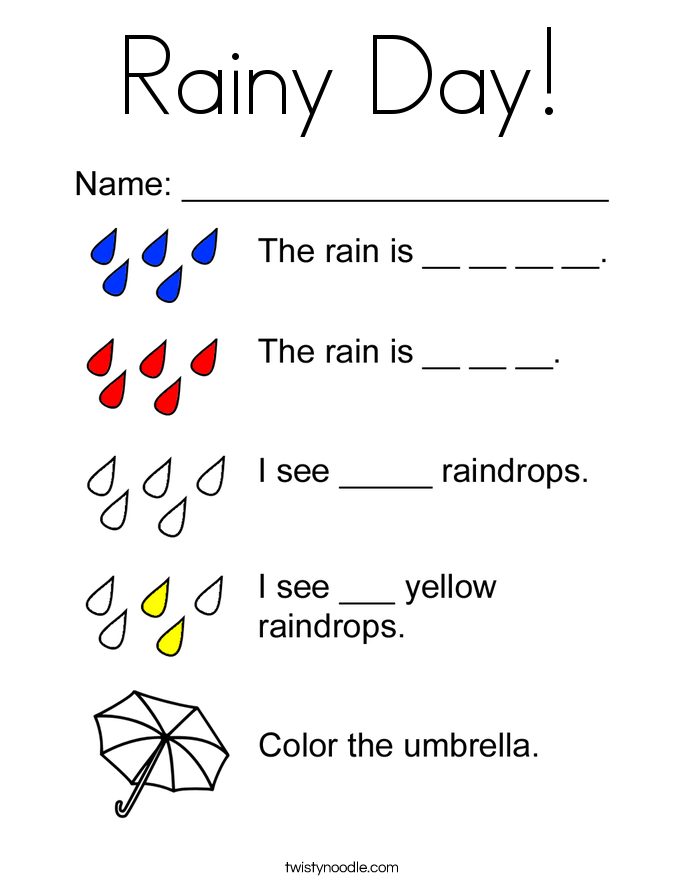 rainy day coloring pages for preschoolers rainy day coloring page twisty noodle for day coloring preschoolers pages rainy
