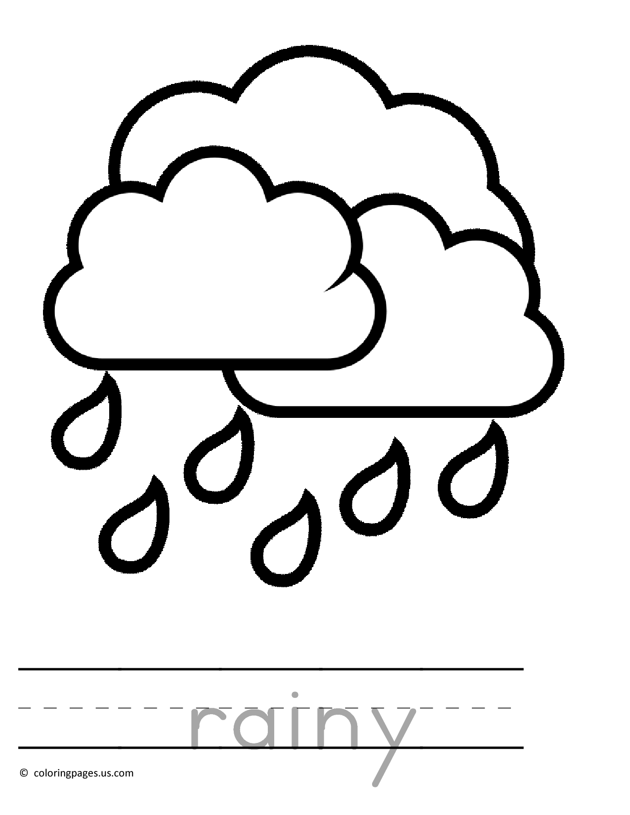 rainy day coloring pages for preschoolers rainy day drawing for kid at getdrawings free download pages coloring day rainy for preschoolers