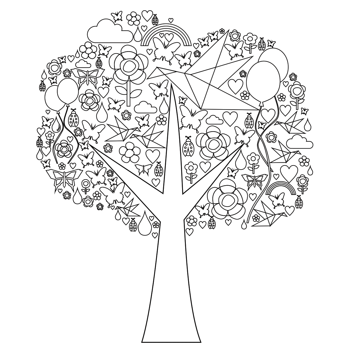 realistic tree tree coloring pages free printable tree coloring pages for kids cool2bkids tree realistic tree pages coloring