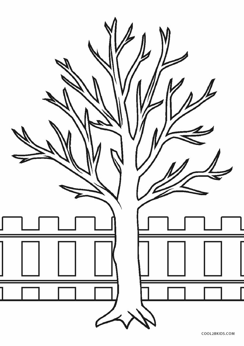 realistic tree tree coloring pages free printable tree coloring pages for kids realistic tree pages coloring tree