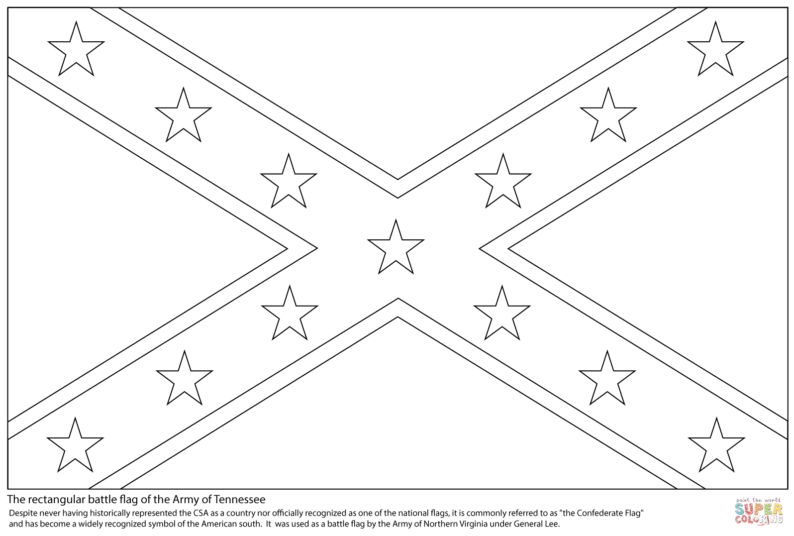 rebel flag coloring pages battle flag of the confederate states of america coloring rebel pages coloring flag