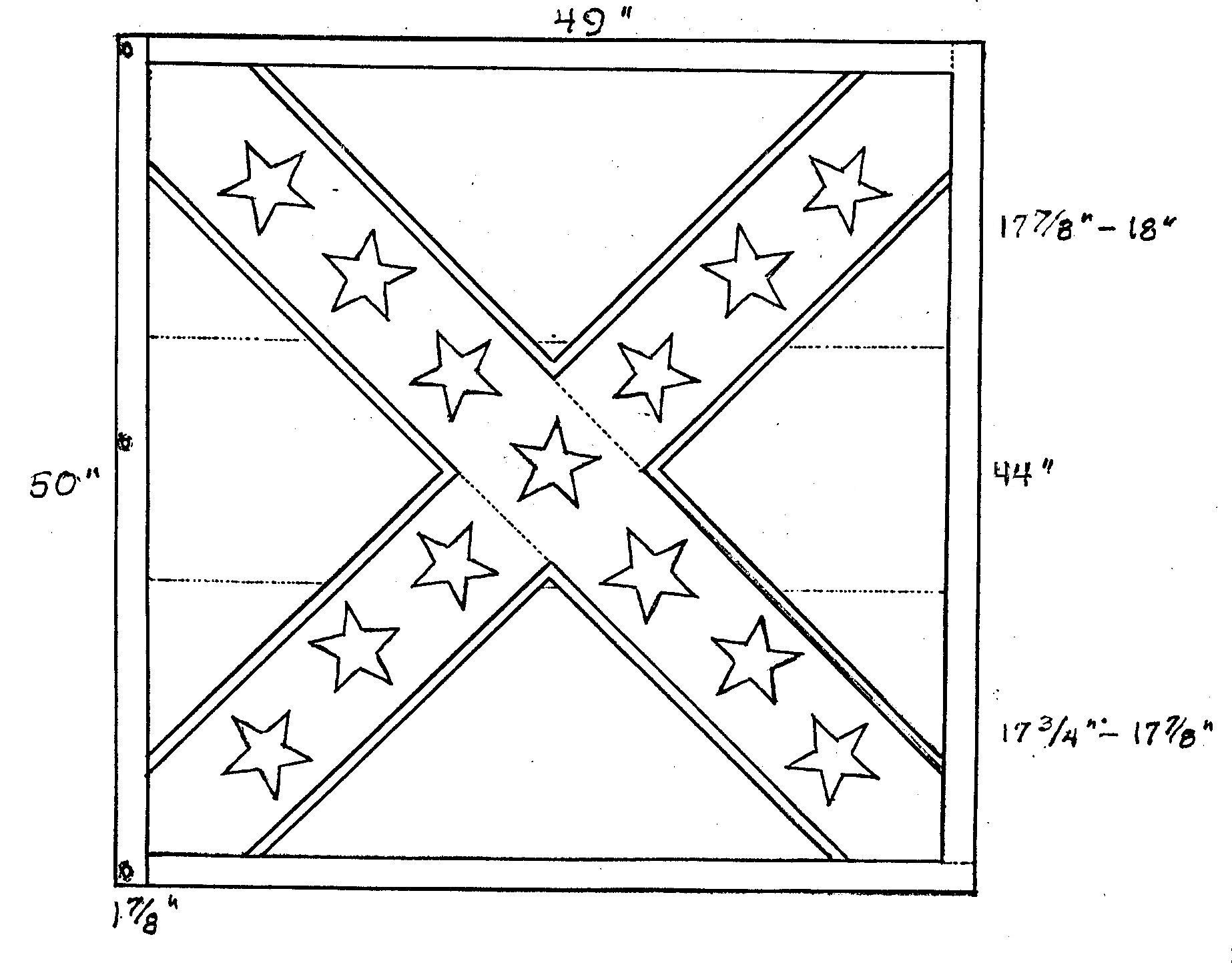 rebel flag coloring pages battle flags texas battle flag of the 9th texas infantry pages rebel coloring flag