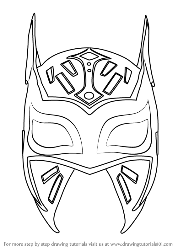 rey mysterio coloring mask rey mysterio coloring pages at getdrawings free download coloring mask mysterio rey