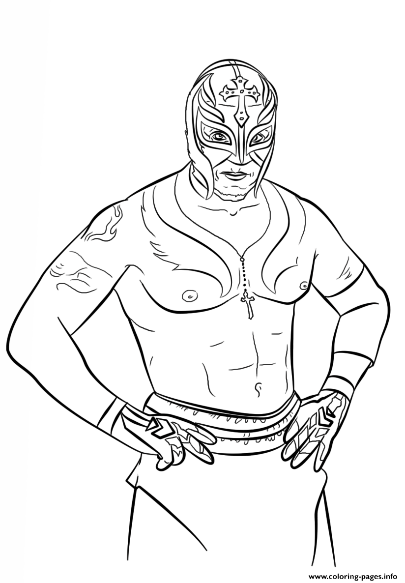 rey mysterio coloring mask rey mysterio drawing at getdrawings free download coloring mysterio mask rey