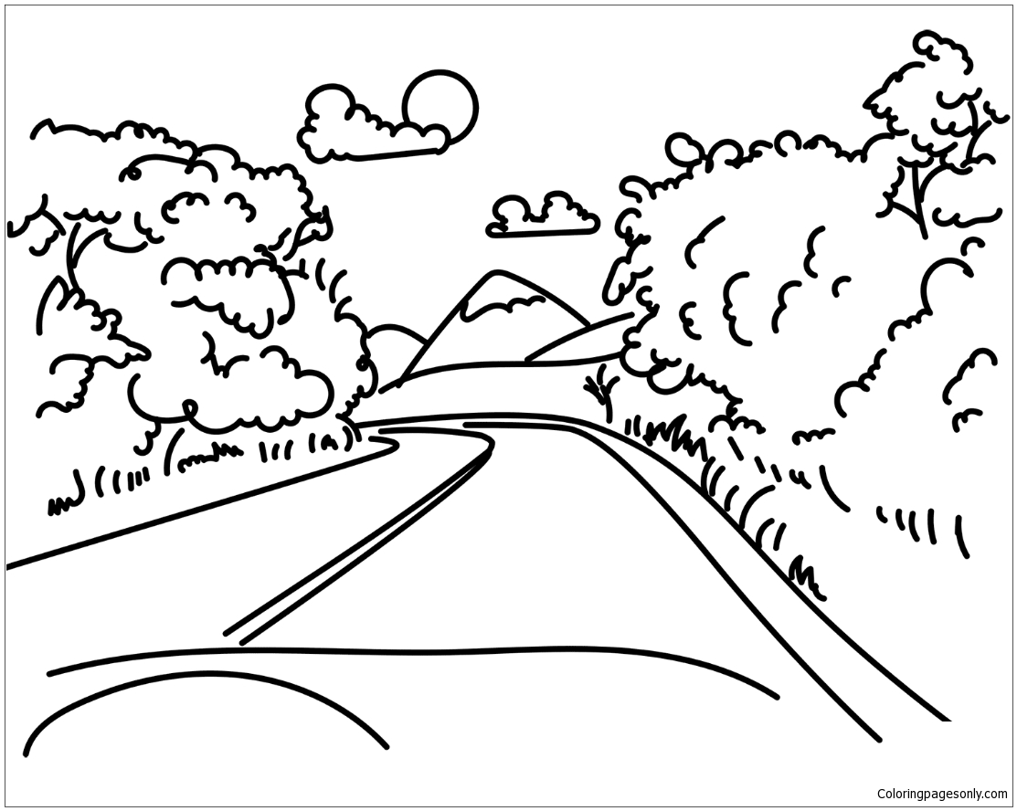 road coloring page dirt road coloring download dirt road coloring for free 2019 road coloring page