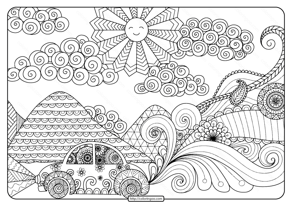 road coloring page family road trip coloring page coloring sky road page coloring