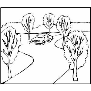 road coloring page kangaroo road sign for australia day decoration coloring page road coloring