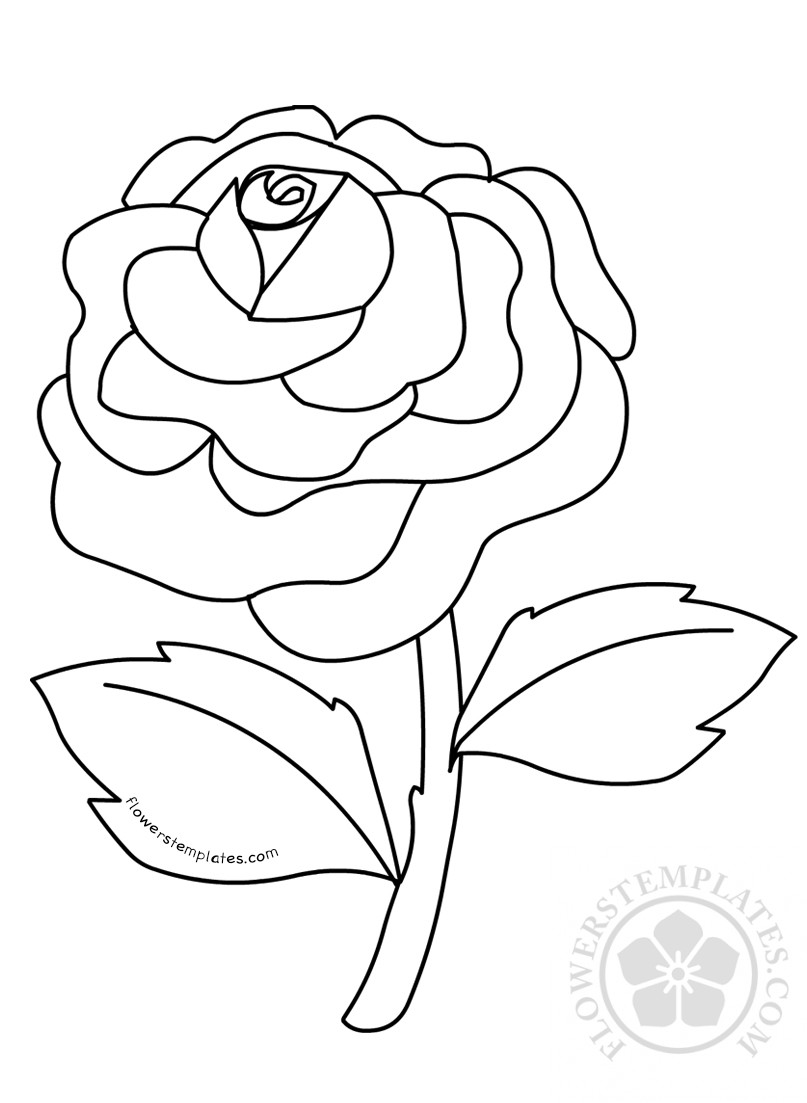 rose flower coloring pictures pretty flower coloring pages coloring home pictures flower rose coloring