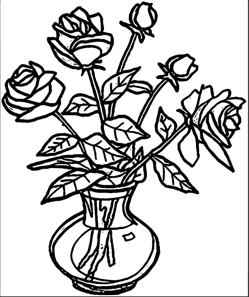 rose flower coloring pictures pretty rose coloring page free clip art rose coloring flower pictures