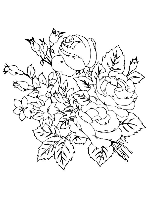rose flower coloring pictures printable coloring pages dot the dot rose coloring flower pictures