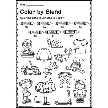 s blend coloring pages mrs pritchett39s printables fun little s blend cut and pages blend coloring s