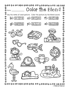 s blend coloring pages s blends worksheets and activities no prep pack by miss s coloring blend pages