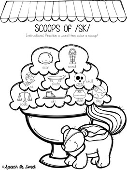 s blend coloring pages scoops of blends articulation coloring sheets by speech coloring pages s blend