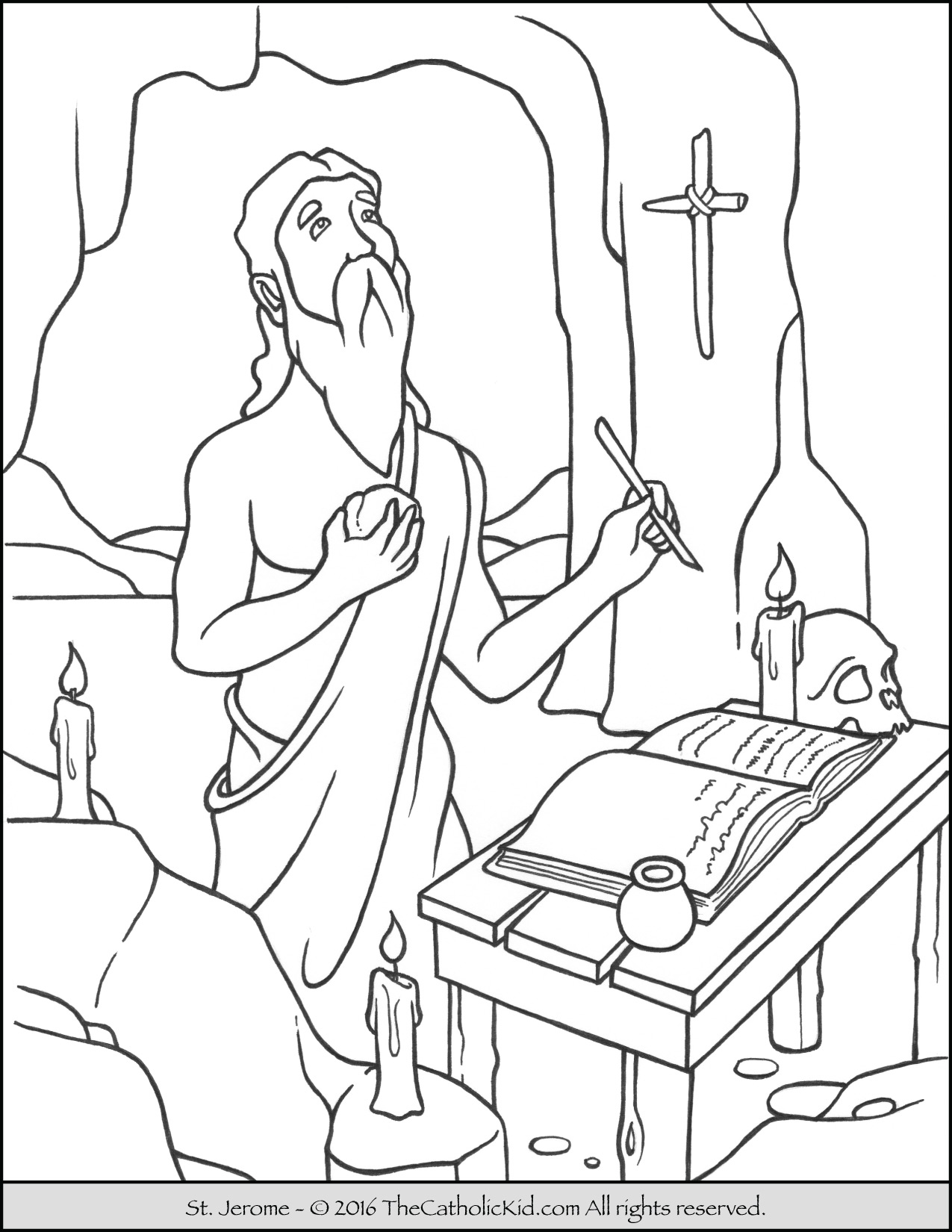 saint coloring pages all saints day coloring page the catholic kid catholic pages saint coloring