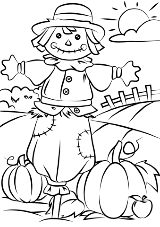 scarecrow coloring pictures printable scarecrow coloring pages coloring home coloring pictures scarecrow