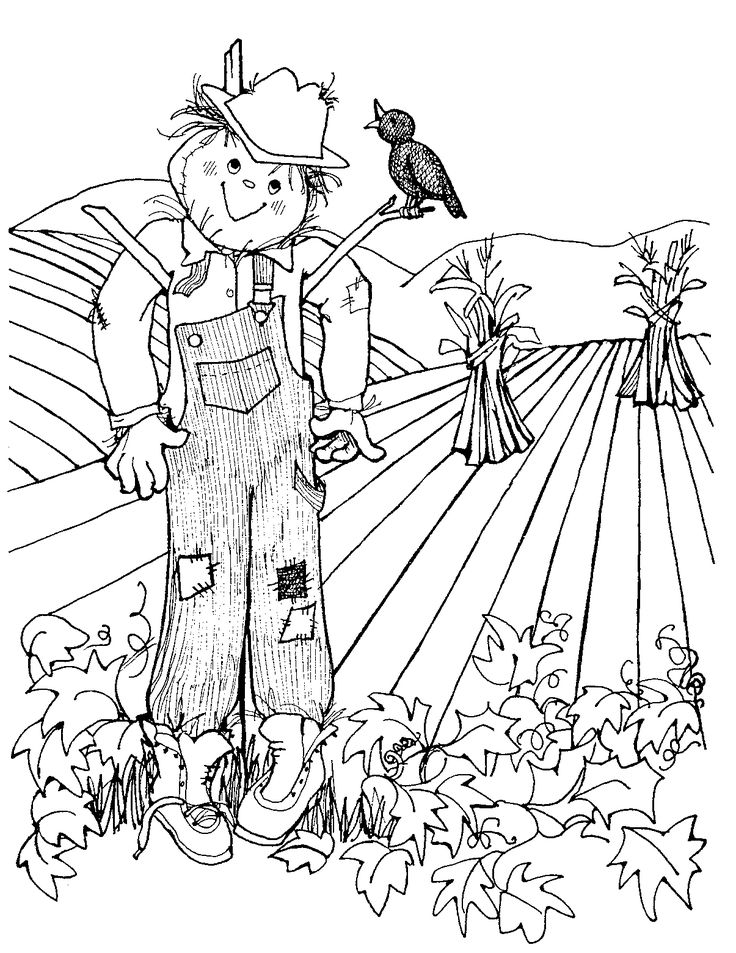 scarecrow coloring pictures scarecrow coloring pages coloring pages to print pictures scarecrow coloring