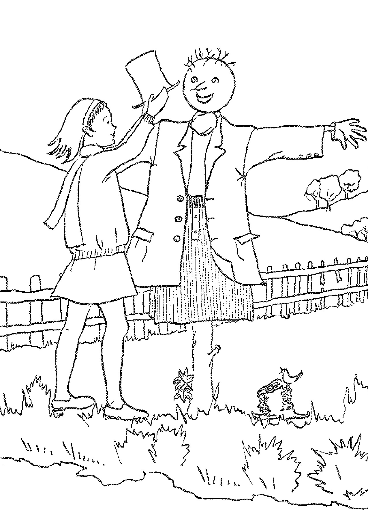 scarecrow coloring pictures scarecrow coloring pages to download and print for free scarecrow coloring pictures