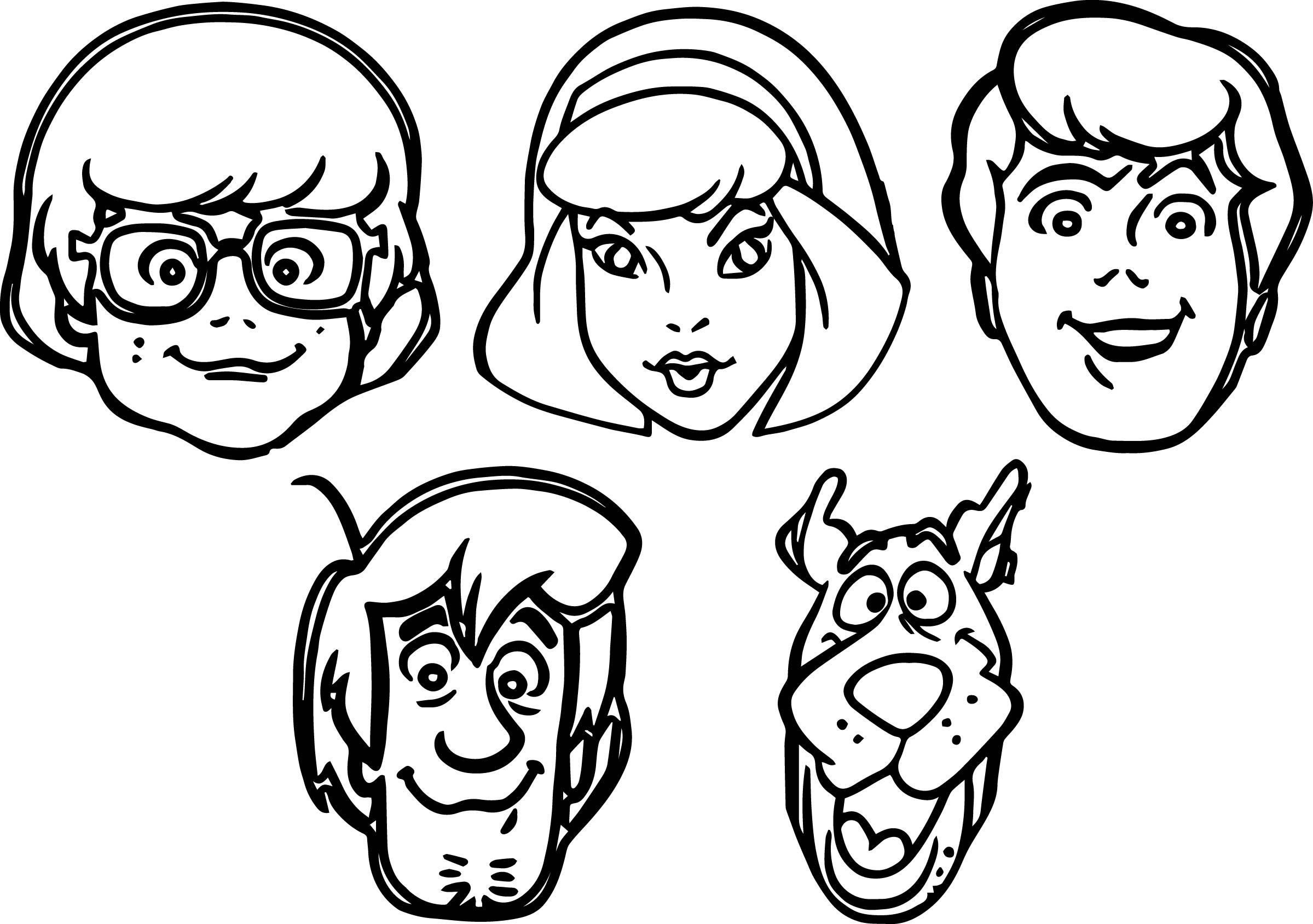scooby doo smiling scooby doo big face coloring page coloring sheets scooby smiling doo