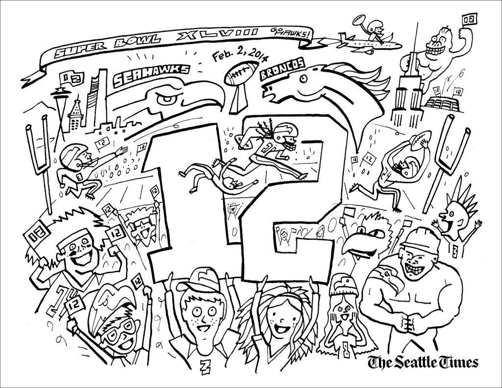 seattle seahawks coloring page seattle seahawks logo drawing at getdrawings free download seahawks page coloring seattle