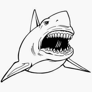 shark coloring pictures free cartoon shark clipart shark outline and shark silhouette coloring shark pictures