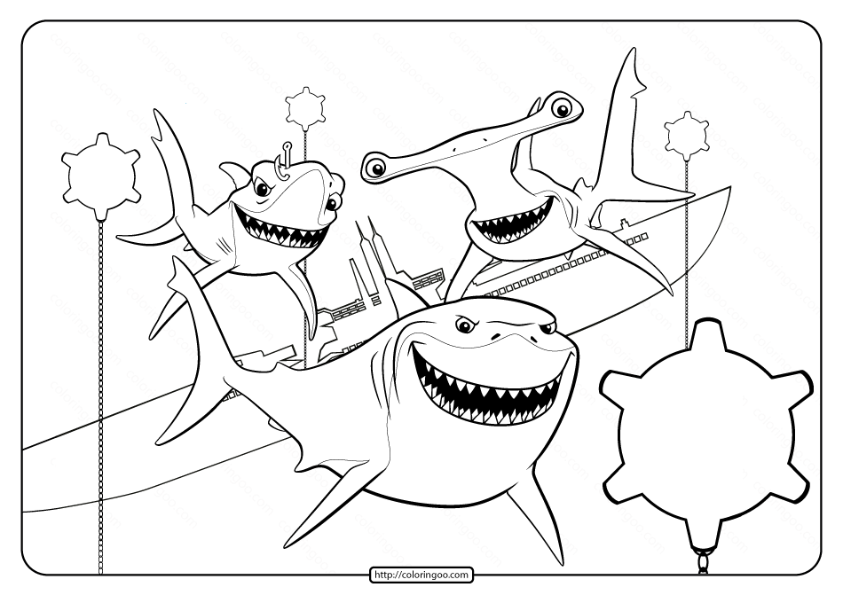 shark printables 10 fancy baby shark coloring pages with scenes for little shark printables