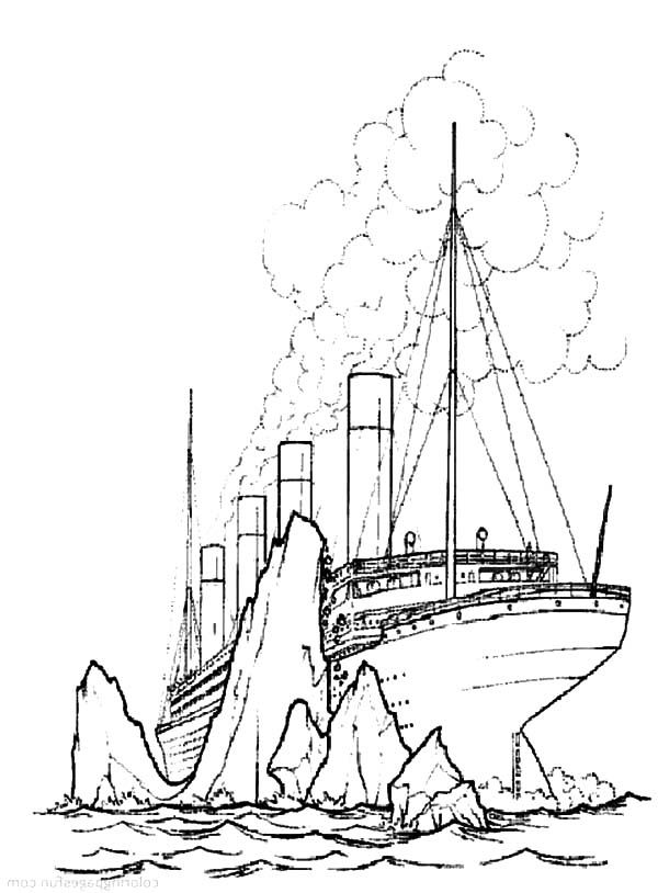 shipwreck titanic coloring pages printable titanic coloring pages for kids cool2bkids titanic coloring shipwreck pages