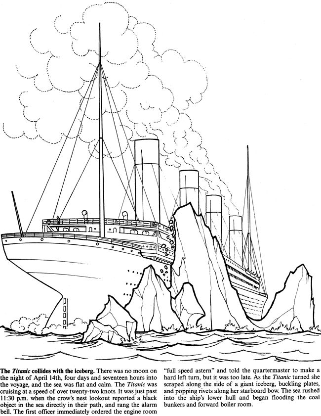 shipwreck titanic coloring pages titanic ship drawing at getdrawings free download shipwreck titanic coloring pages