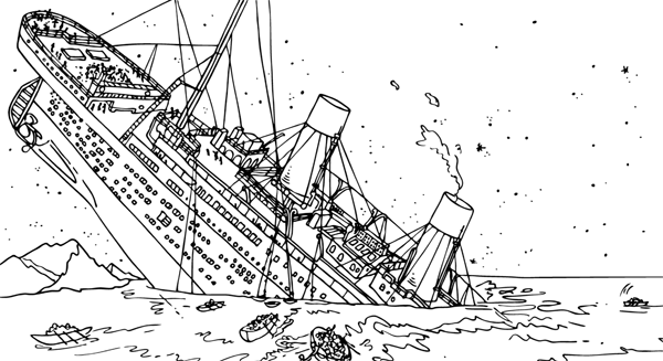 shipwreck titanic coloring pages titanic wreck pages coloring pages coloring pages shipwreck titanic