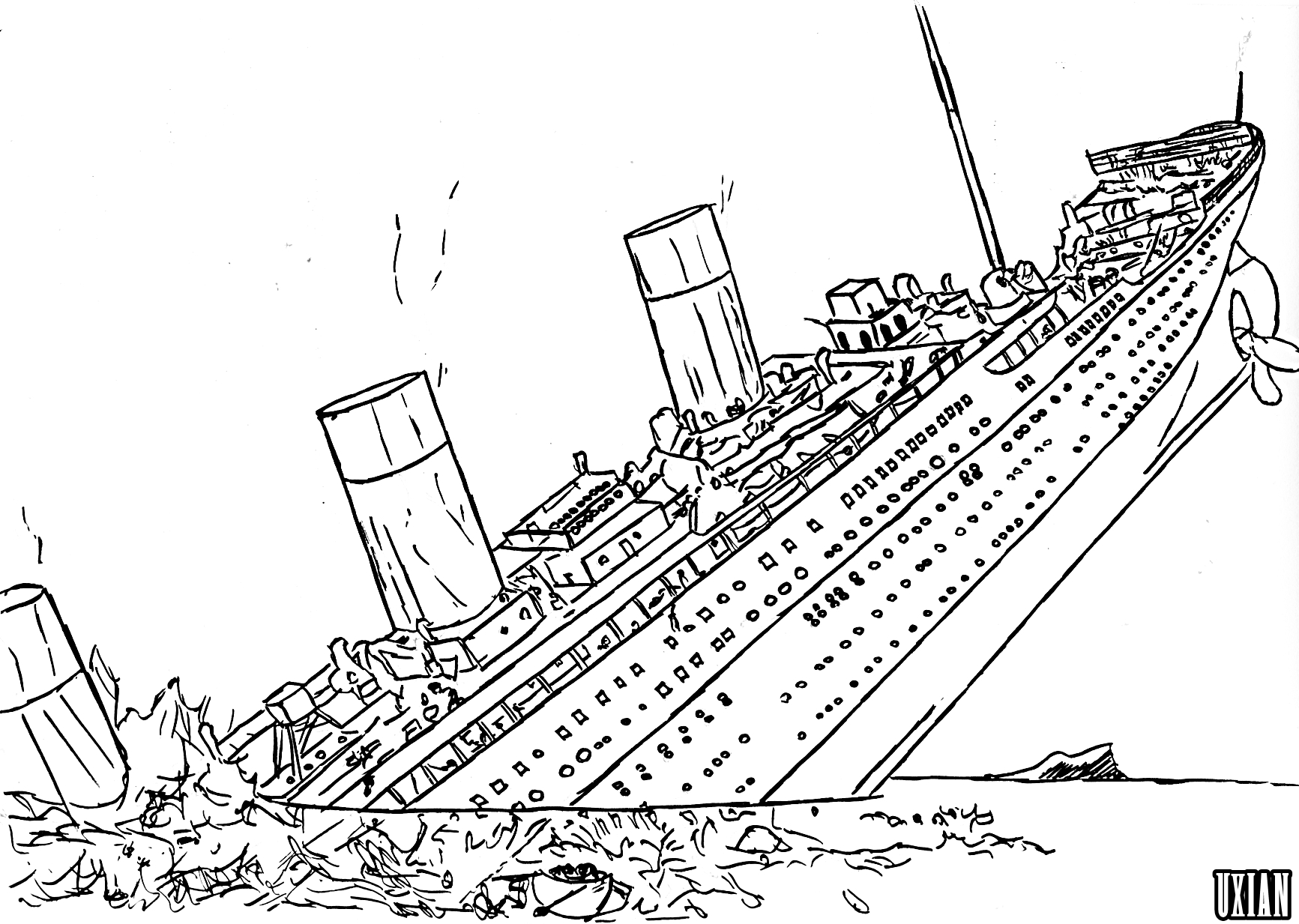shipwreck titanic coloring pages titanic wreck pages coloring pages pages coloring titanic shipwreck