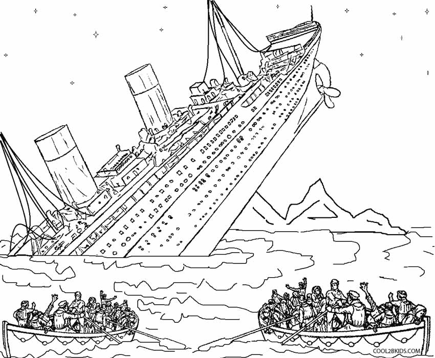 shipwreck titanic coloring pages titanic wreck pages coloring pages shipwreck coloring titanic pages
