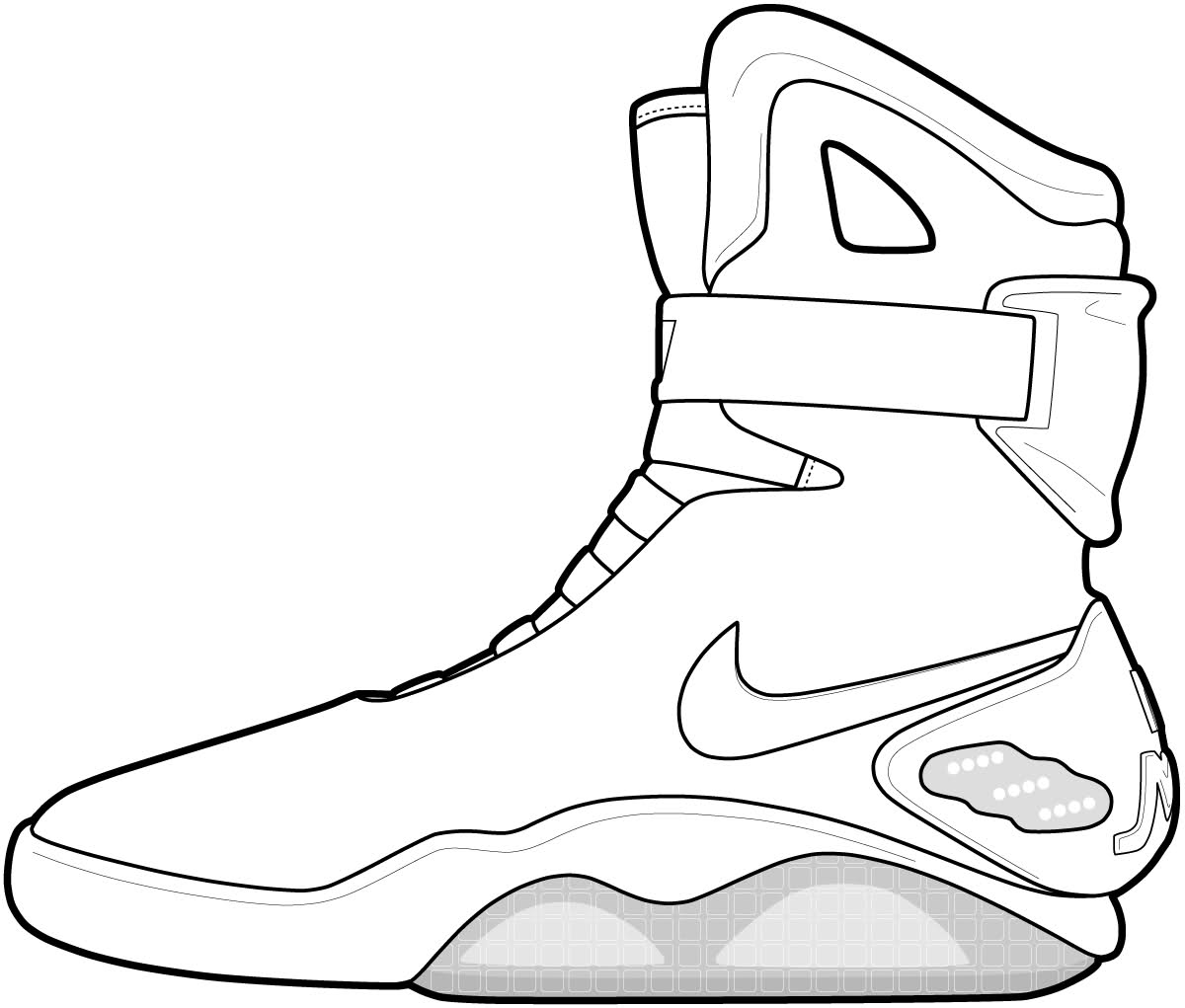 shoes to color basketball shoe coloring pages download and print for free color to shoes 1 1