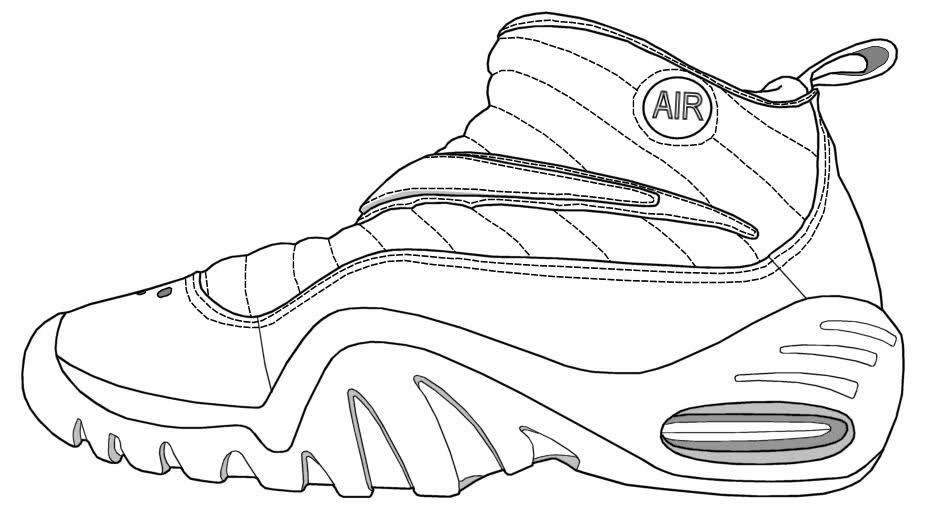 shoes to color coloring pages of jordan shoes coloring home to color shoes