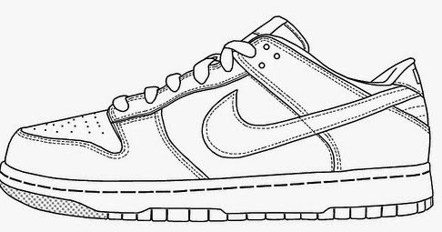 shoes to color tennis shoe coloring pages at getcoloringscom free color shoes to