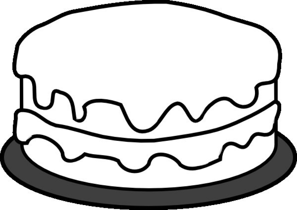 simple cake coloring pages birthday cake that is simple and attractive coloring page simple pages cake coloring