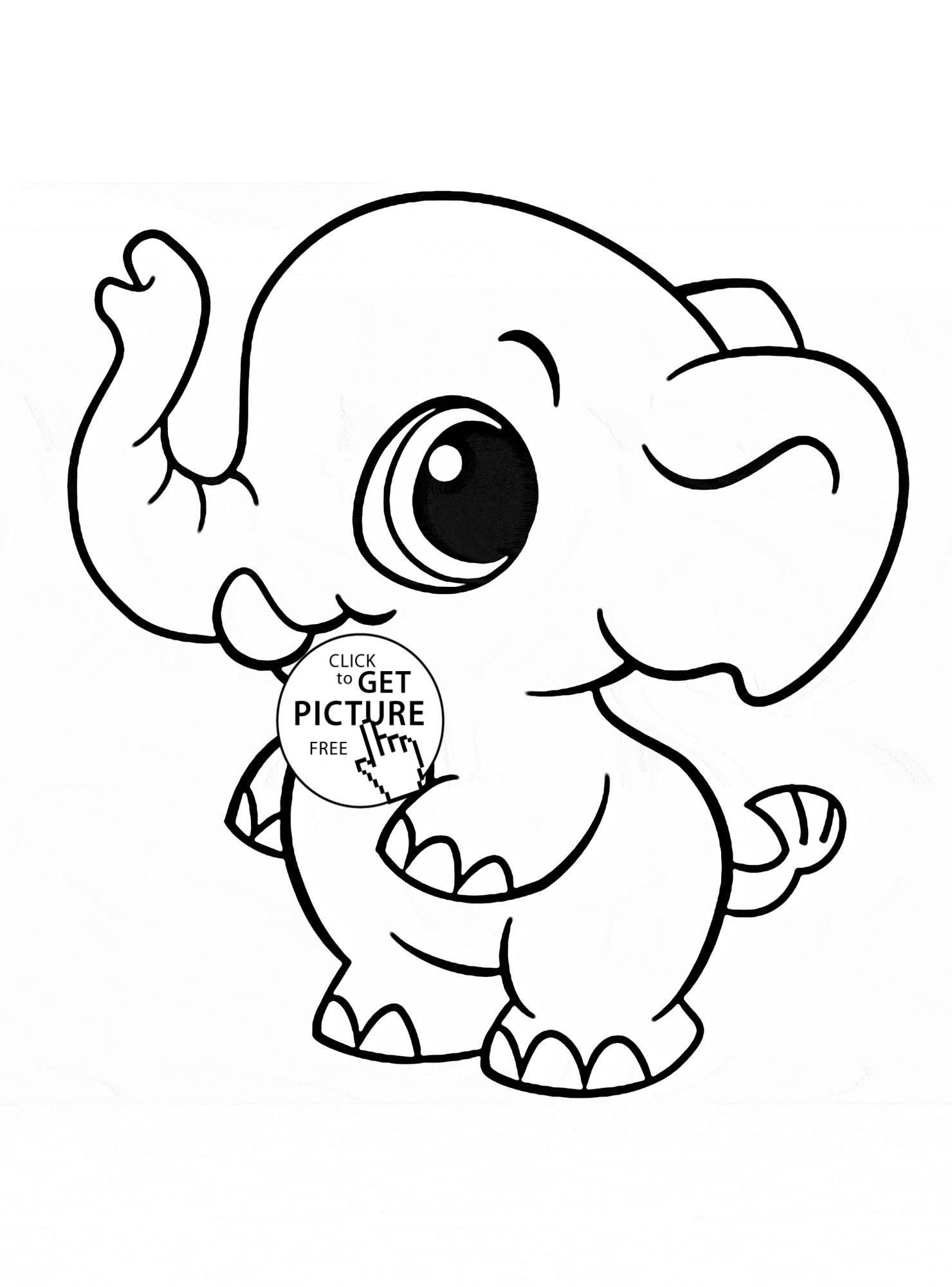 simple elephant coloring page baby elephant coloring pages to download and print for free elephant simple coloring page
