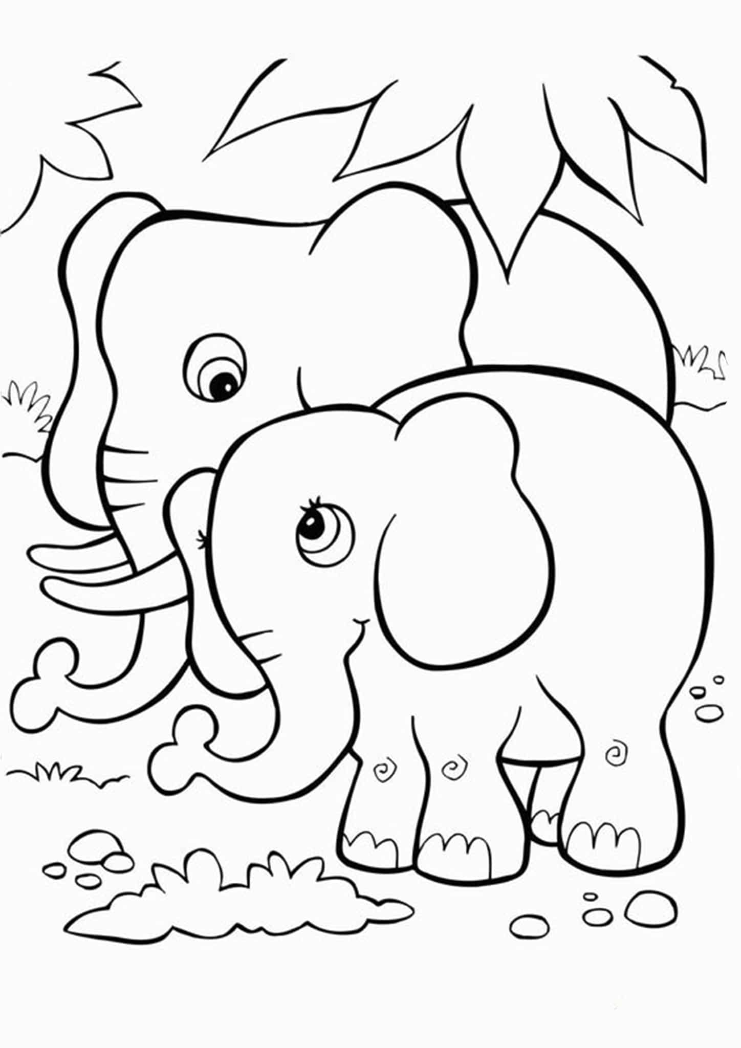 simple elephant coloring page baby elephant coloring pages to download and print for free page coloring simple elephant